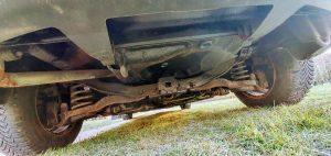 rozsdás autó átvizsgálása, mazda